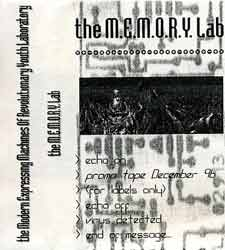 "The M.E.M.O.R.Y. Lab - ""Modern Expressing Machines Of Revolutionary Youth"""
